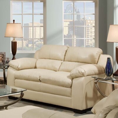 Simmons Upholstery Labarre Loveseat Upholstery: Soho Natural Bonded Leather Match