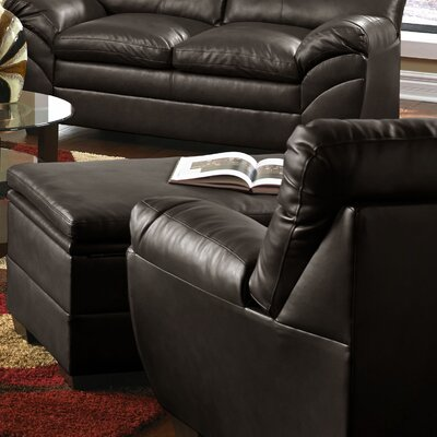 Simmons Upholstery Labarre Storage Ottoman Upholstery: Espresso