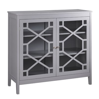 Avonmore 2 Door Large Accent Cabinet Finish: Gray