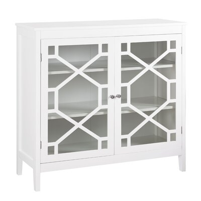 Avonmore 2 Door Large Accent Cabinet Finish: White