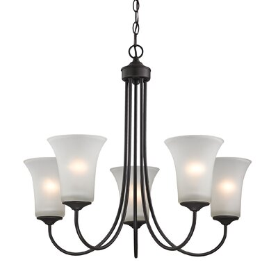 Haskins 5-Light Shaded Chandelier Finish: Oil Rubbed Bronze