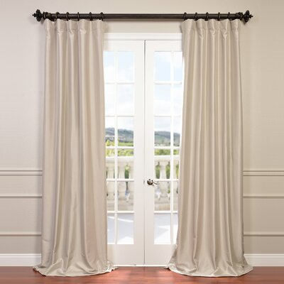 Alcott Hill Avedon Solid Max Blackout Thermal Rod Pocket Single Curtain Panel