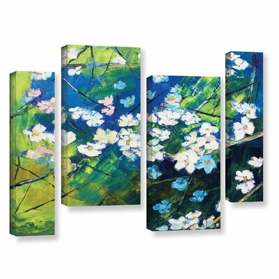 Cherry Blossom 4 Piece Painting Print on Wrapped Canvas Set Size: 24
