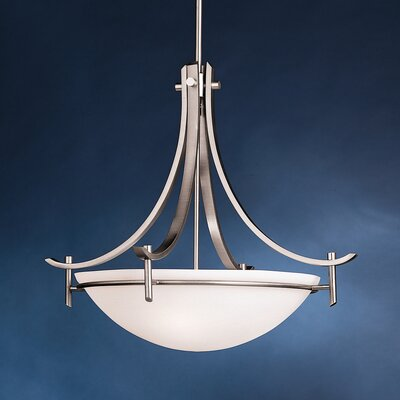 Smithshire 3-Light Inverted Pendant Finish: Antique Pewter, Bulb Type: Incandescent