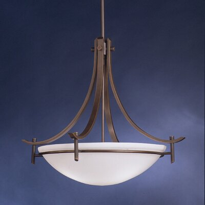 Smithshire 3-Light Inverted Pendant Finish: Olde Bronze, Bulb Type: Incandescent