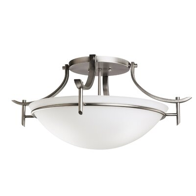 Smithshire 3-Light Semi Flush Mount Finish: Antique Pewter