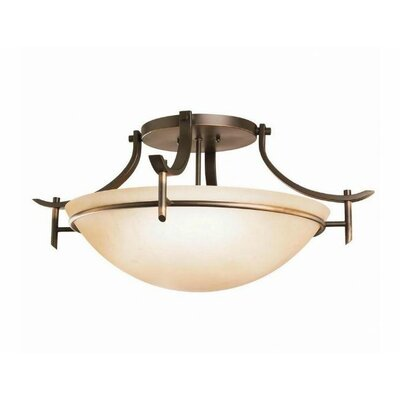Smithshire 3-Light Semi Flush Mount Finish: Olde Bronze
