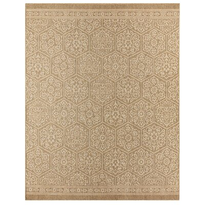 Elmer Nauset Natural Indoor/Outdoor Area Rug Rug Size: 53 x 76
