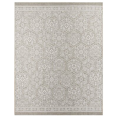 Elmer Nauset Gray/Silver Indoor/Outdoor Area Rug Rug Size: 53 x 76