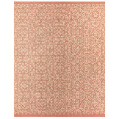 Elmer Bundoran Coral Indoor/Outdoor Area Rug Rug Size: Rectangle 106 x 14