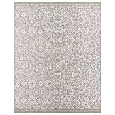 Elmer Bundoran Gray/Silver Indoor/Outdoor Area Rug Rug Size: 9 x 12