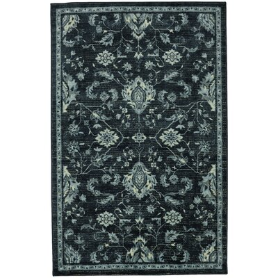 Blumer Turquoise/Slate Area Rug Rug Size: Rectangle 5 x 7