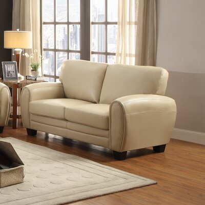 Leith Loveseat Upholstery: Taupe
