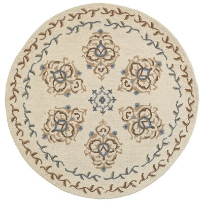 Chesapeake Plush Handmade Ivory Indoor Area Rug Rug Size: Round 4