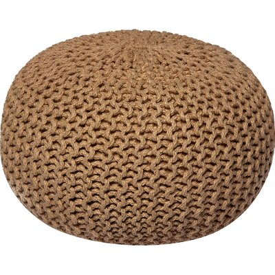 Lakemont Corded Pouf Ottoman Upholstery: Natural