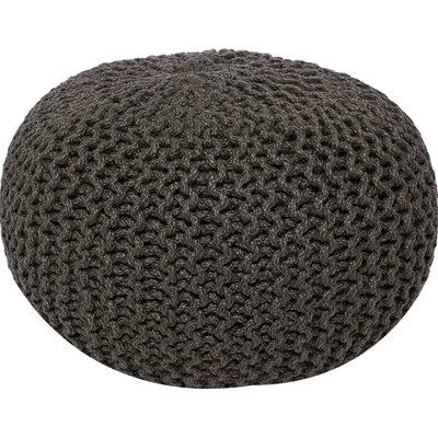 Lakemont Corded Pouf Ottoman Upholstery: Gray