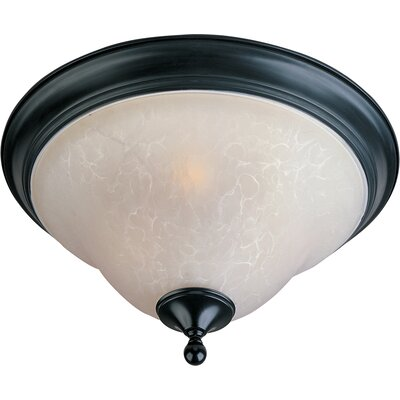 Sparland 2-Light Flush Mount Size: 10 H x 16 W