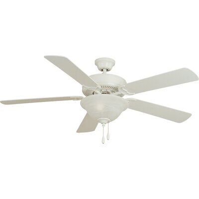 Allie 52 5-Blade Ceiling Fan Finish: Matte White
