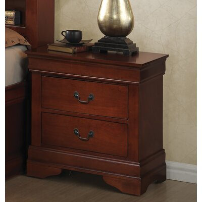 Heiss 2 Drawer Nightstand