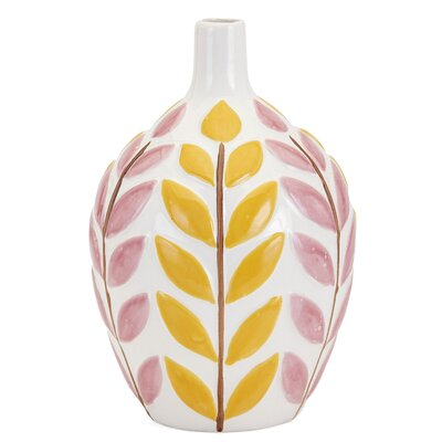 Medium Pink/Yellow Table Vase