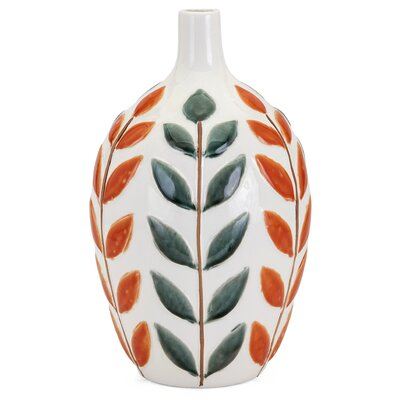 Alcott Hill Large Orange/Green Table Vase