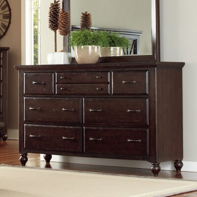 Butlerville 7 Drawer Dresser and Mirror