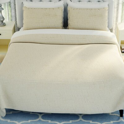 Hessville Cotton Quilt Size: Queen, Color: Natural