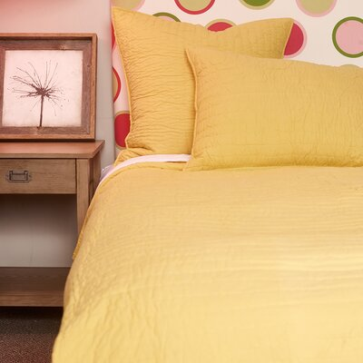 Hessville Cotton Quilt Size: King, Color: Golden Yellow