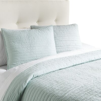 Hessville Cotton Quilt Color: Sky, Size: King