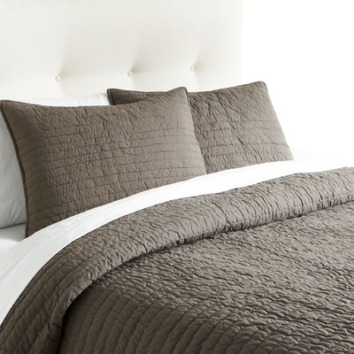Hessville Cotton Quilt Color: Pewter, Size: Queen