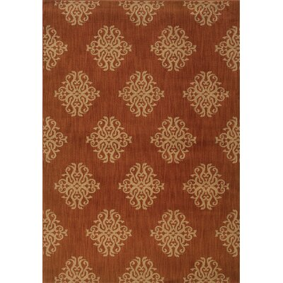 Alfreda Orange Area Rug Rug Size: 53 x 76