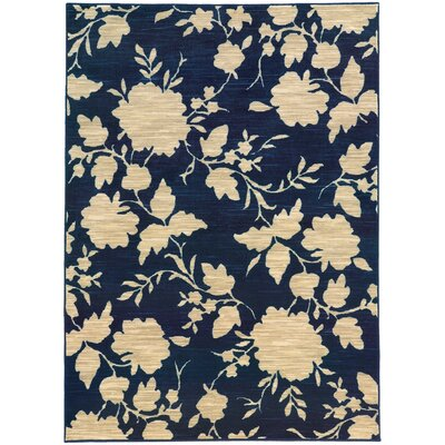 Alicia Blue/Beige Area Rug Rug Size: Rectangle 53 x 76