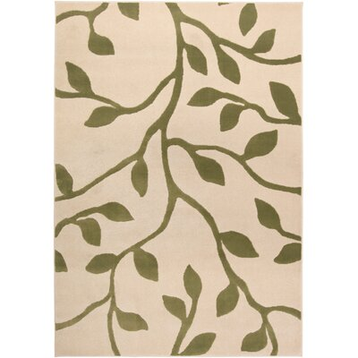 Aleck Floral Ivory/Green Area Rug