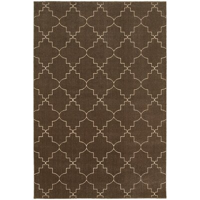 Allen Brown/Ivory Area Rug Rug Size: Rectangle 53 x 76