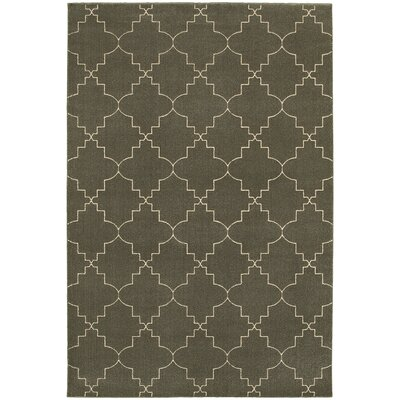 Allen Gray/Ivory Area Rug Rug Size: Rectangle 53 x 76