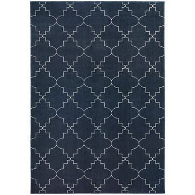 Allen Navy/Ivory Area Rug Rug Size: Rectangle 910 x 1210