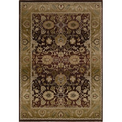 Ferrer Purple/Gold Area Rug Rug Size: Rectangle 99 x 122