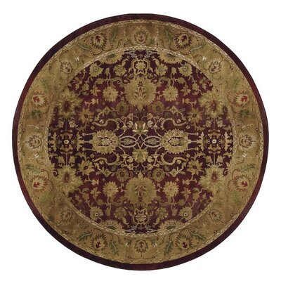 Ferrer Purple/Gold Area Rug Rug Size: Round 8