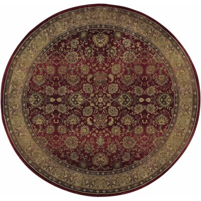 Ferrer Red/Beige Area Rug Rug Size: Rectangle 99 x 122