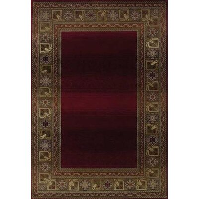Ferrer Ruby/Gold Area Rug Rug Size: Rectangle 67 x 91