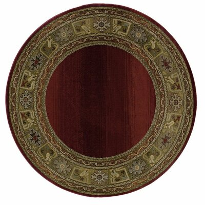 Ferrer Ruby/Gold Area Rug Rug Size: Runner 23 x 76