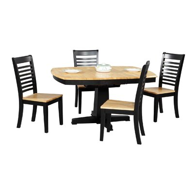 Calvert Dining Table Finish: Natural / Ebony