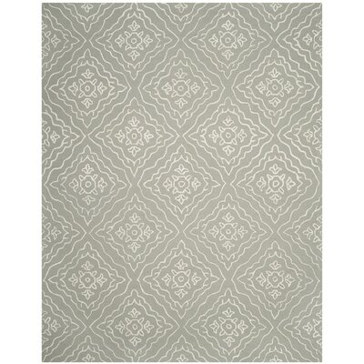 Concord Hand-Tufted Slate/Ivory Area Rug Rug Size: 8 x 10