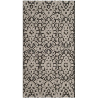 Regal Black/Beige Area Rug Rug Size: 53 x 77