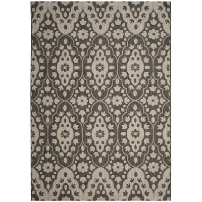 Regal Black/Beige Area Rug Rug Size: 67 x 96