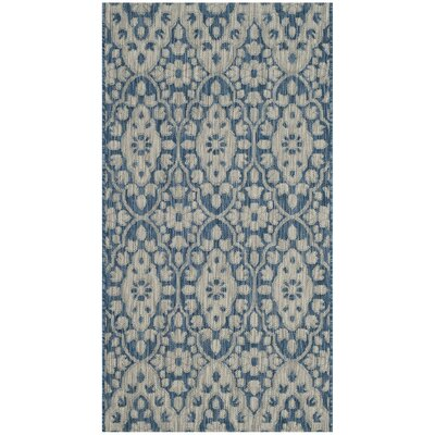 Regal Gray/Navy Area Rug Rug Size: Rectangle 4 x 57