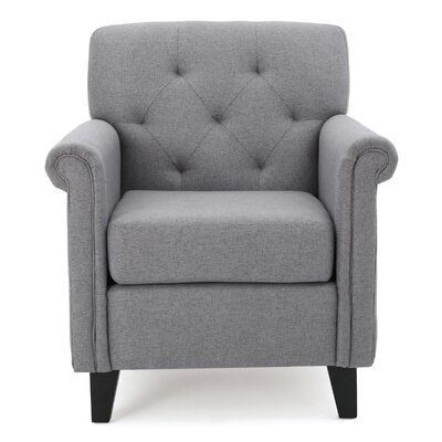 Sansom Arm Chair Upholstrey: Gray