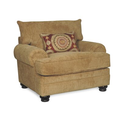 Westerville Twill Armchair Upholstery: Green
