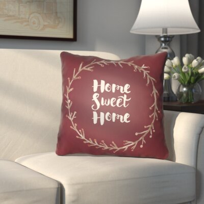 Cobleskill Outdoor Throw Pillow Size: 20 H x 20 W x 4 D, Color: Red