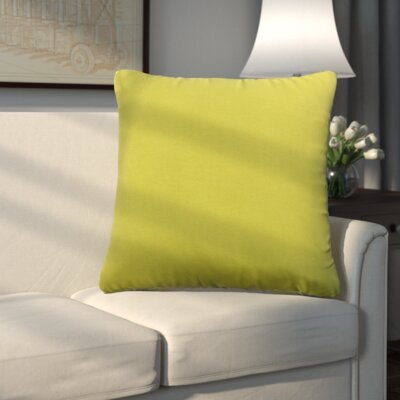Uniontown Prefilled Indoor/Outdoor Fabric Throw Pillow Color: Pear